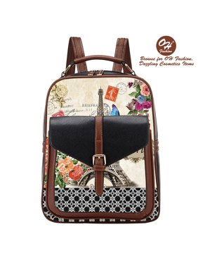 ed4aeb5ef38b Product Image Handbag Backpack European Dream Paris Design Rucksack Travel  Bag Color Black with City Designs. OH Fashion