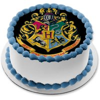 Harry Potter Hogwarts Crest Lion Snake Eagle Wolf Edible Cake Topper Image