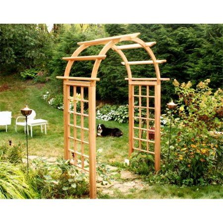 Creek Vine Designs EY54ARCVD Cedar Arched Arbor - 54 in. (Cedar Arched Arbor)