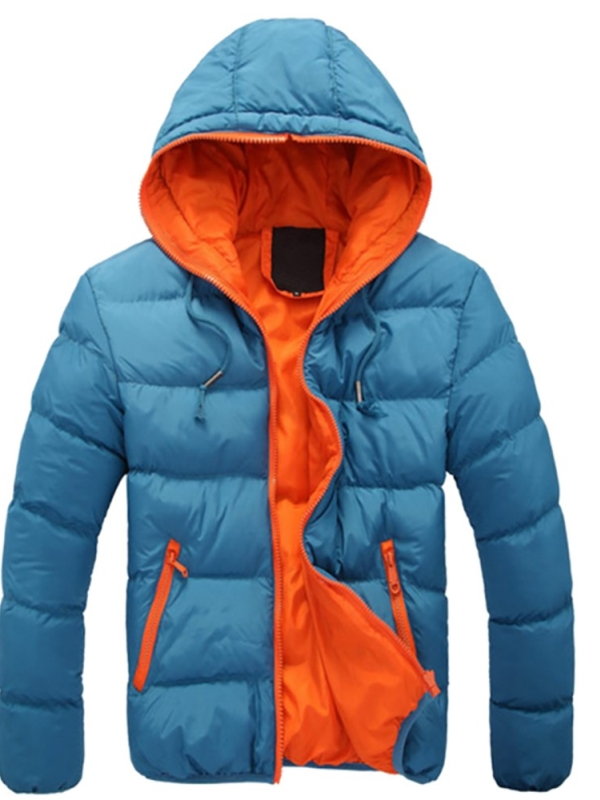 Babula Men Cotton Down Jacket Winter Warm Ski Snow Hooded Coat