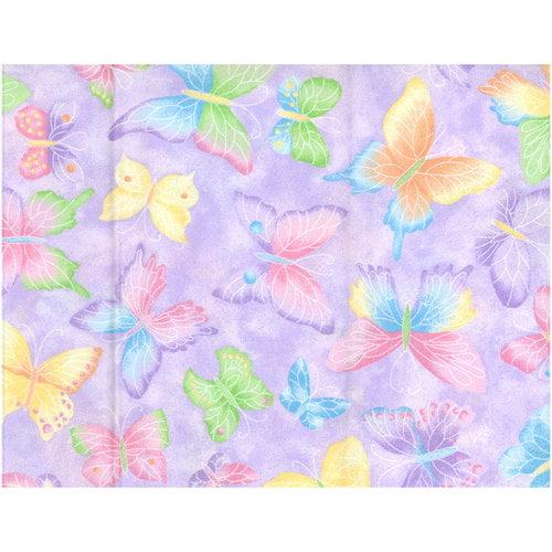 Purple Butterflies Fabric