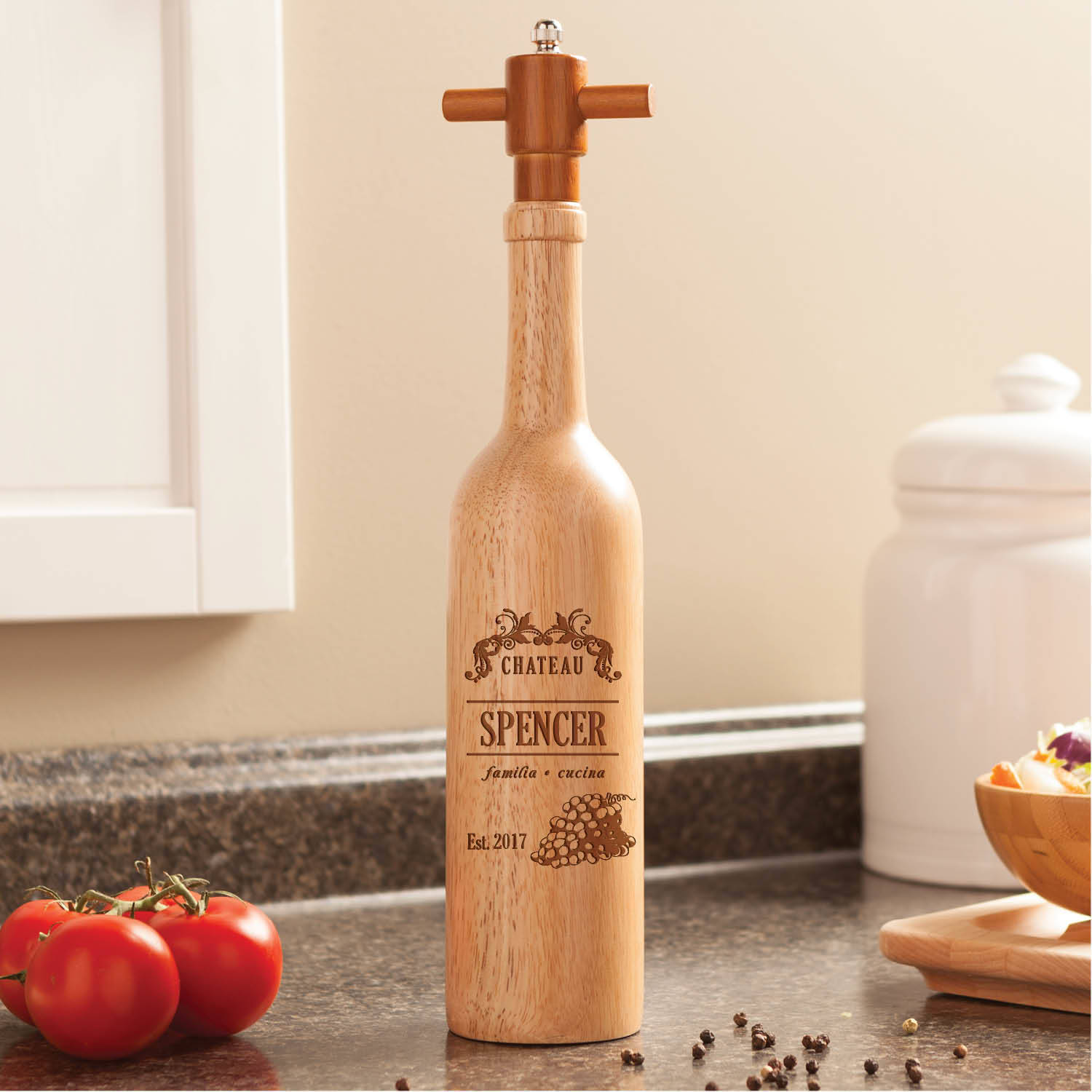 Chateau Personalized Pepper Mill