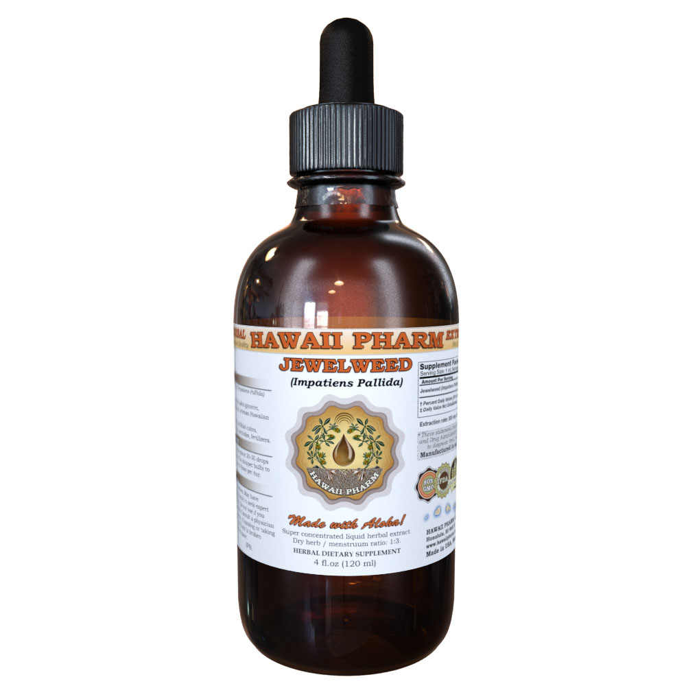 Jewelweed (Impatiens Pallida) Tincture, Organic Dried Herb Liquid Extract, Yellow Jewelweed, Herbal Supplement 2 oz