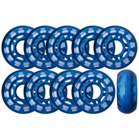 Roller Hockey Goalie Wheels Set Of 10 For Indoor Inline 78a