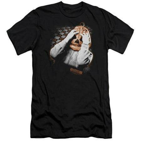 Halloween III Horror Slasher Movie Series Pumpkin Mask Adult Slim T-Shirt Tee