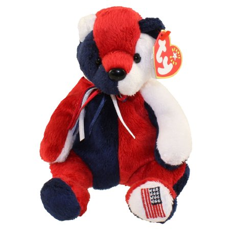TY Beanie Baby - PATRIOT the Bear (Reversed Version) (7.5 - Patriots Toys