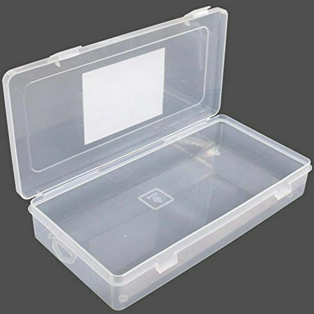 ToolUSA Clear Plastic Box With Snap-down Clips And Plastic Hinges On Lid: TJ-48815
