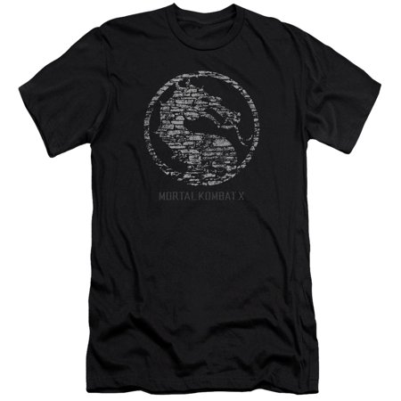 Mortal Kombat X Fighting Video Game Stone Dragon Seal Logo Adult Slim T-Shirt](Mortal Kombat X Halloween Tower)