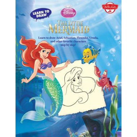 Learn to Draw Disney's the Little Mermaid : Learn to Draw Ariel, Sebastian, Flounder, Ursula, and Other Favorite Characters Step by - Flounder Ariel