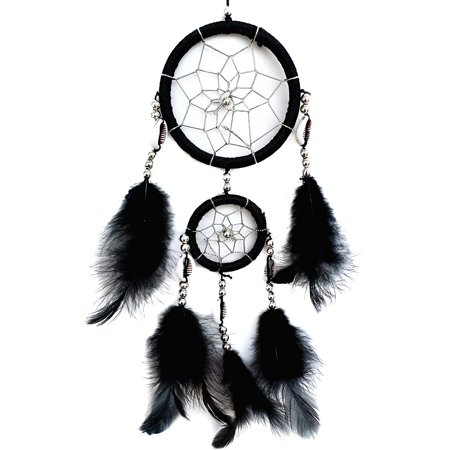 Handmade Multi -Color Dream Catcher Hanging Ornament (With a Betterdecor Gift Bag) (-Black)
