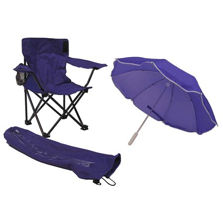 Umbrella Camping Chair with Matching Shoulder Bag, Purple Redmon (Camping Chair Umbrella)