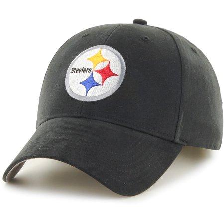 Men's Fan Favorite Black Pittsburgh Steelers Mass Basic Adjustable Hat - OSFA (Pittsburgh Steelers Fan Gear)