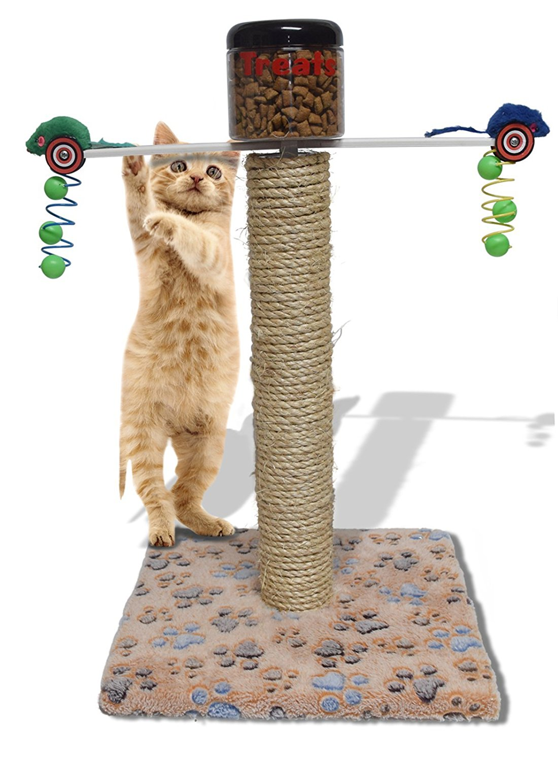 Cat Toy And Food Dispenser Weight Loss Exercise Interactive Station by Design With Vinyl