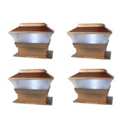 Outdoor Solar Powered Deck Fence Post Cap Lights For 4x4 Wood Post 4-Pack