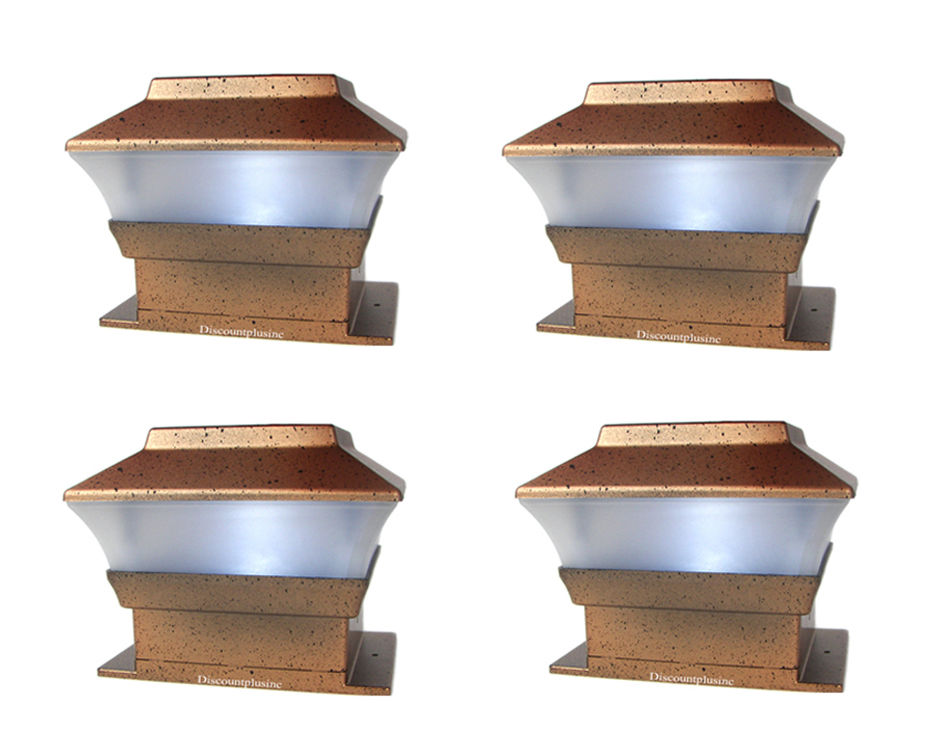 Outdoor Solar Lights Color Changing Fence Post Cap Light 4X4 Cap Deck Fence