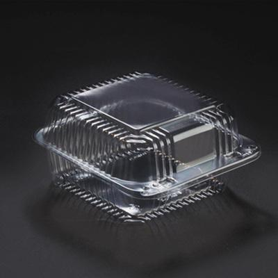 6 x 6 x 3 Square Plastic Clear Hinged Containers/Set of 500