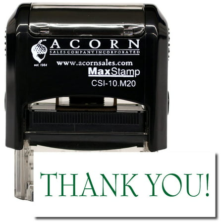 Mint Set Commemorative Stamps (Self-Inking Thank You Stamp with Mint Green Ink)