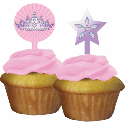 Creative Converting Princess Party Cupcake Toppers, 12-Pack