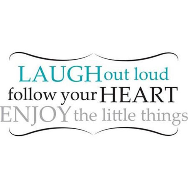 WallPops WPQ0813 Laugh Out Loud Wall Quote Decals