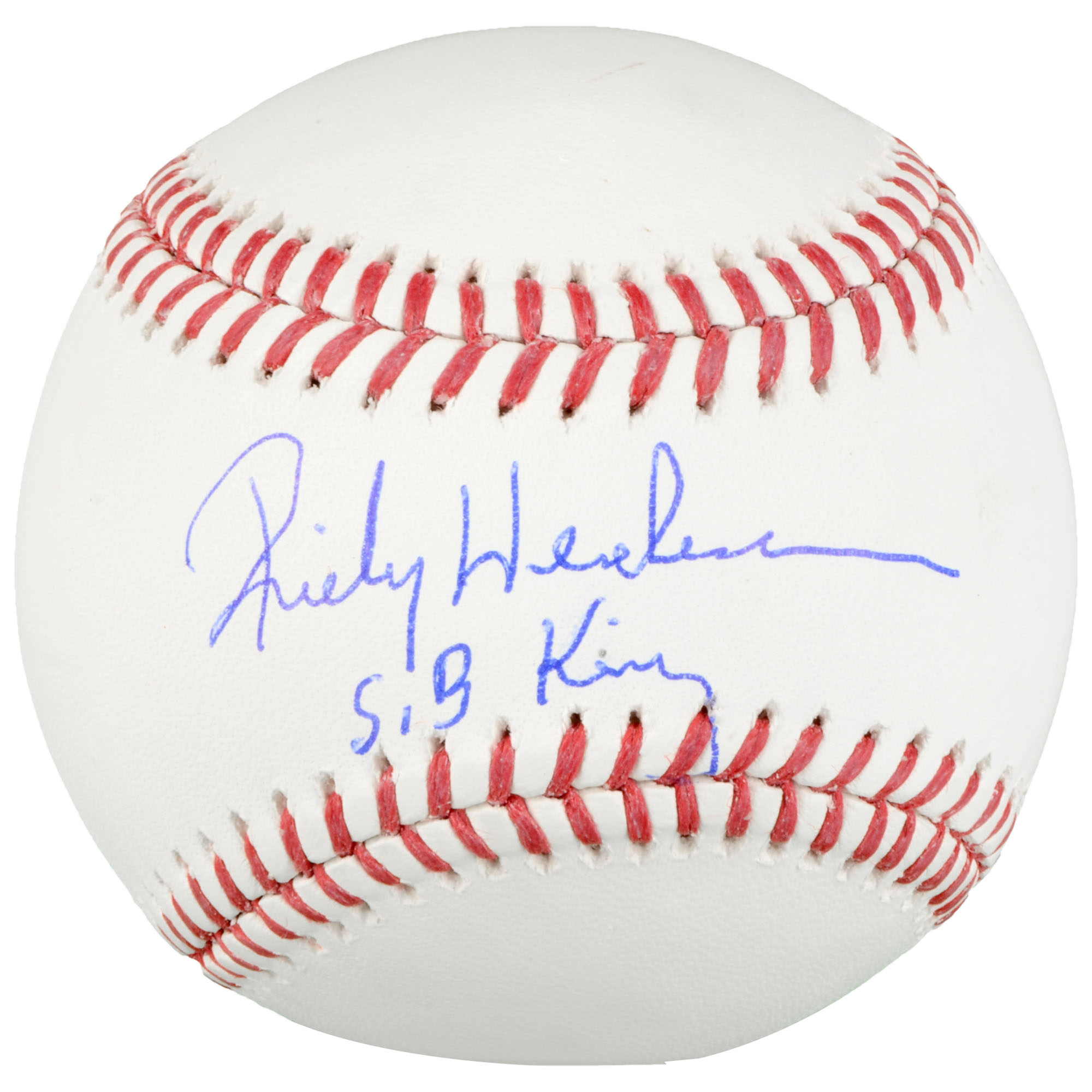 Rickey Henderson Oakland Athletics Fanatics Authentic Autographed Baseball with SB King Inscription - No Size