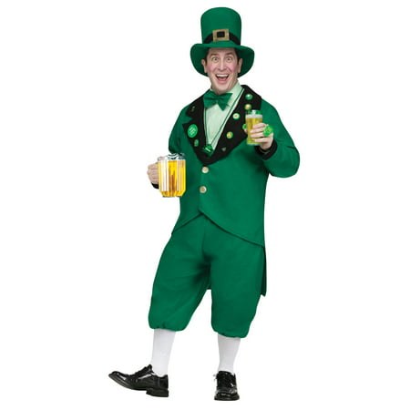 St. Patrick's Day Leprechaun Men's Costume, One Size - Green Lantern Mens Costume
