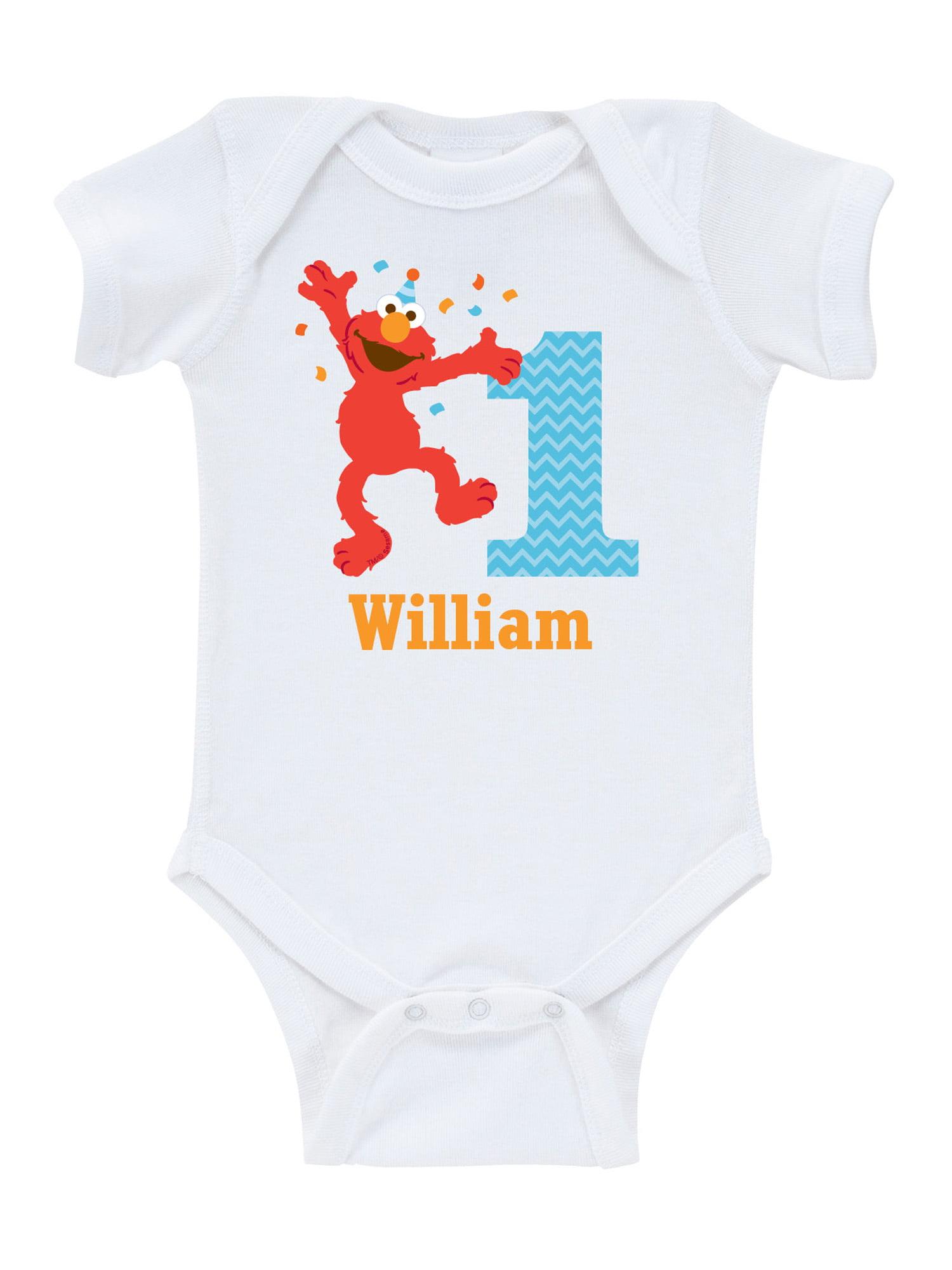 Personalized Sesame Street Elmo Birthday Infant Bodysuit