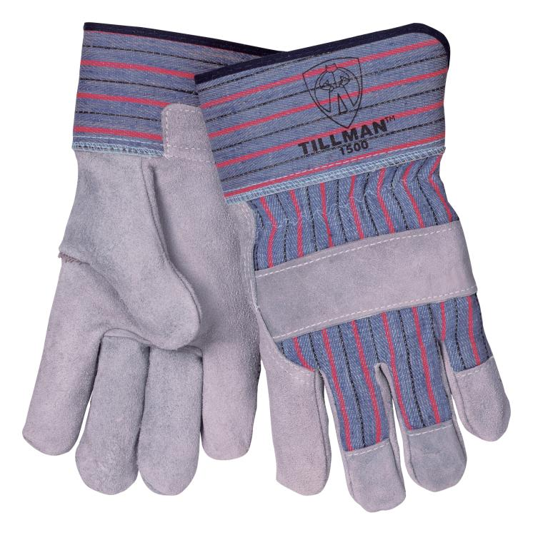 Tillman 1500W Select Cowhide/Canvas Back Women's Work Gloves, Large| PKG = 12