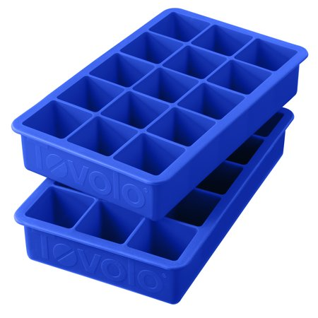 Tovolo Perfect Cube Silicone Ice Trays Set of 2, Capri Blue (Tovolo Ice Cube Tray)