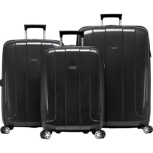 Ricardo Beverly Hills Lightweight Black 3 Piece Spinner Travel Set Luggage suitcase 950660