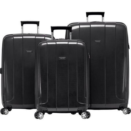 9d008f4dc323 Lightweight Black 3 Piece Spinner Travel Set Luggage suitcase 950660
