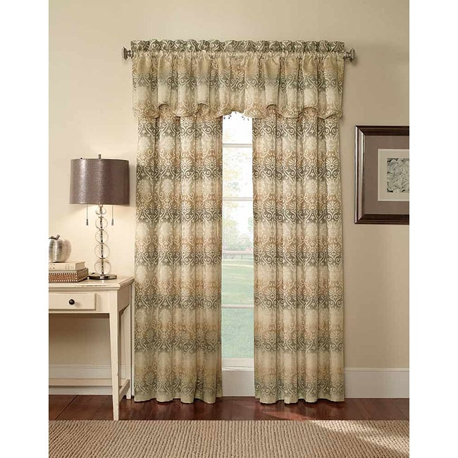 CHF Industries Elise Damask Jacquard 63-Inch Curtain Panel Pair