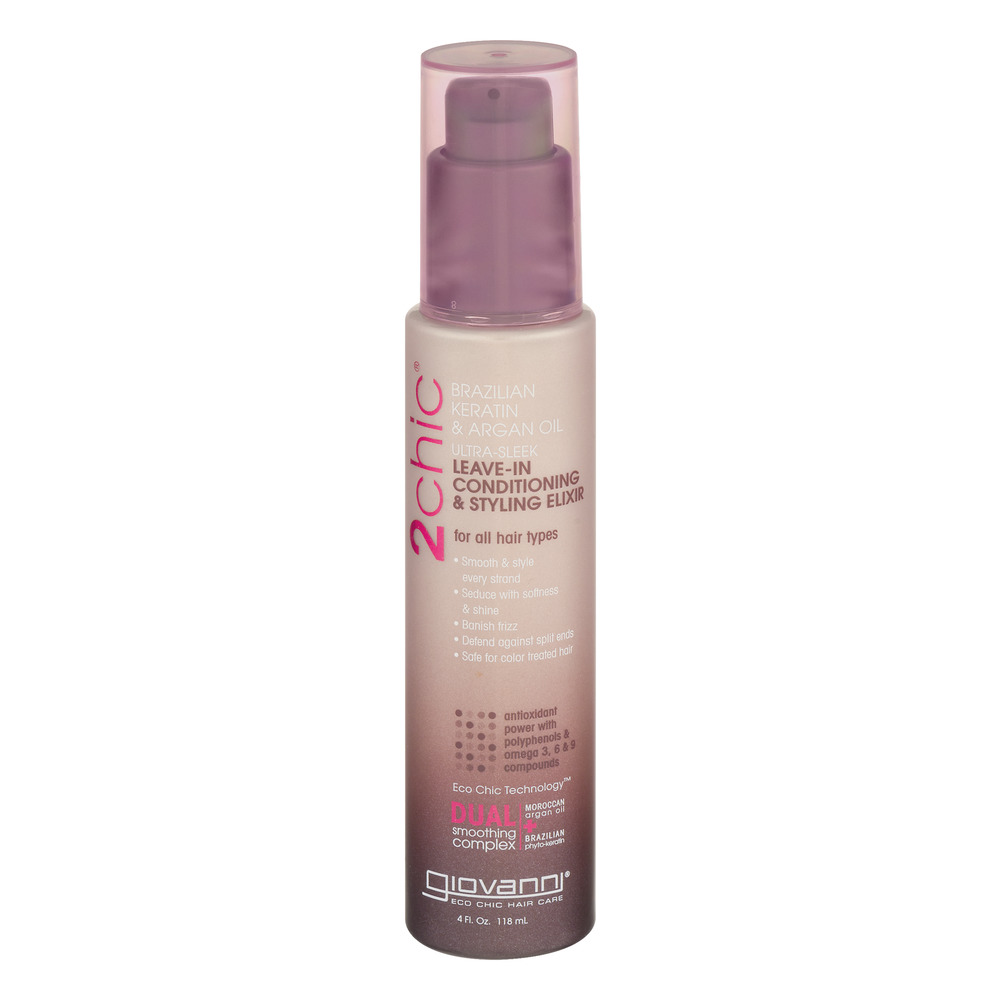 Giovanni 2Chic Leave-In Conditioner & Styling Elixir, 4.0 FL OZ