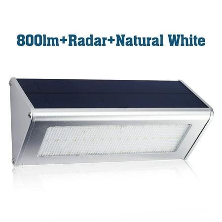 Prisma 800 Lm Radar Led Solar Lights   Yes Clean Energy Aluminum Alloy Housing 48 Led  Radar Motion Sensor  Waterproof  Led Solar Light  Natural White Patio Light  Wall Light  Security Light