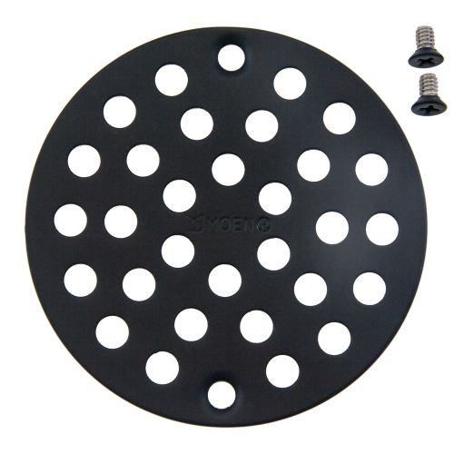"""Moen 102763 4"""" Round Shower Drain Cover with Exposed Screw Installation"""