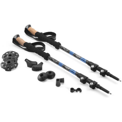 Cascade Mountain Tech Carbon Fiber Quick Lock Trekking Poles with Cork Grip by Cascade Mountain Tech