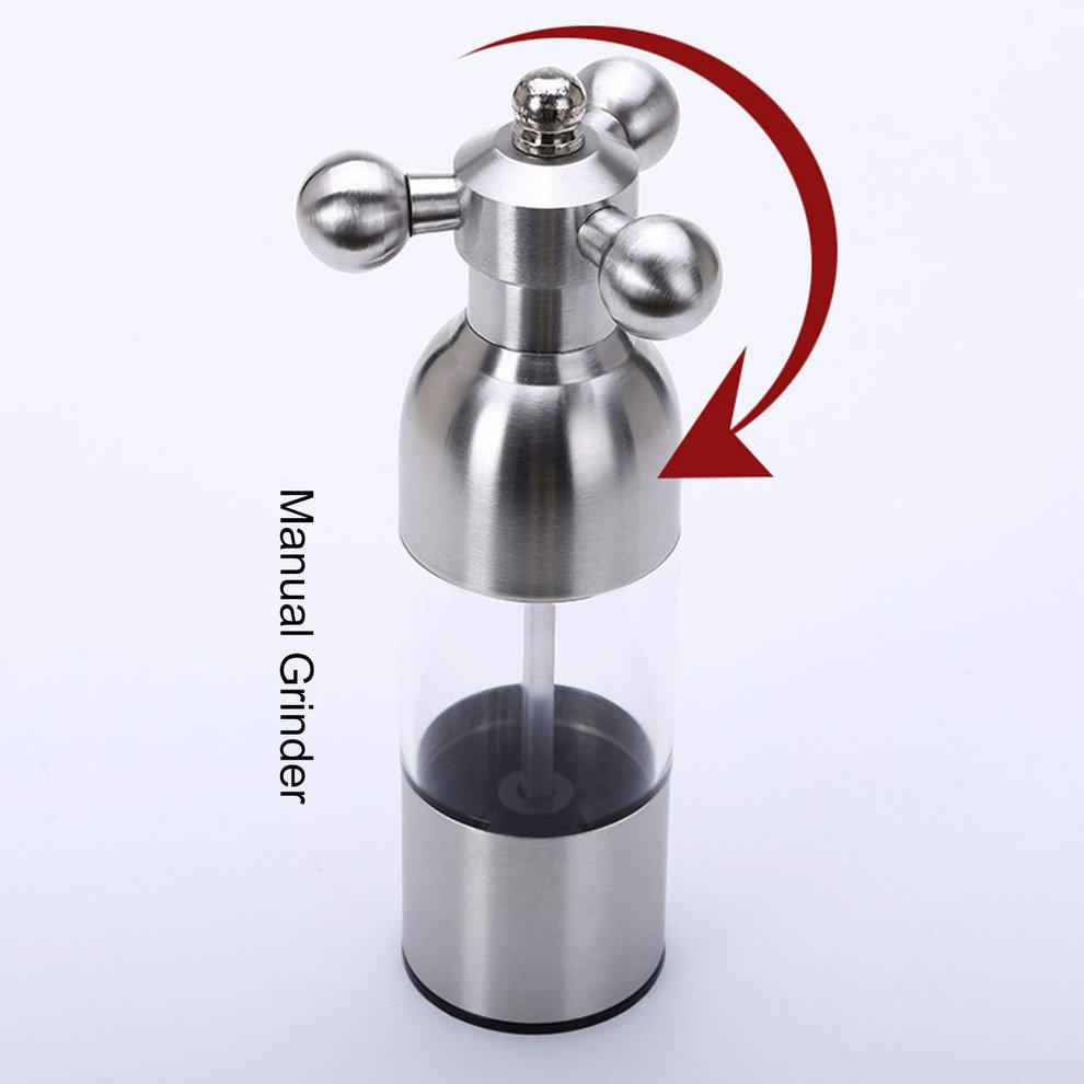 Faucet Valve Shape Manual Pepper Salt Mill Spice Sauce Grinder Kitchen Muller ##