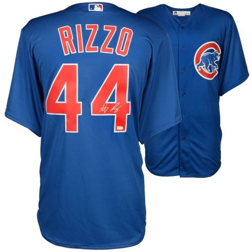 Anthony Rizzo Chicago Cubs Fanatics Authentic Autographed Blue Replica Jersey - No Size