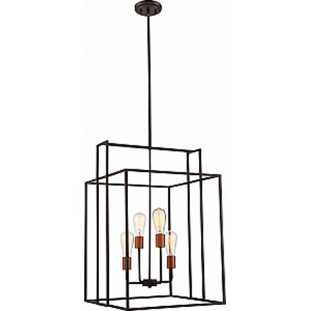 NUVO Lighting Lake 4 Light 240W Bronze Square Pendant