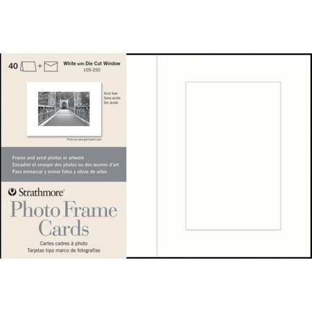 Strathmore Photo Frame Cards 40 Pack White Walmartcom