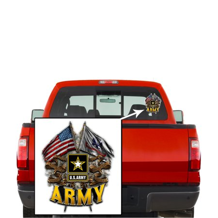 Army Decals, Show Your Pride with our ARMY DOUBLE FLAG US ARMY Patriotic Decals, Perfect for Your Kitchen, Car, Wall or Bike, Gifts for Soldiers