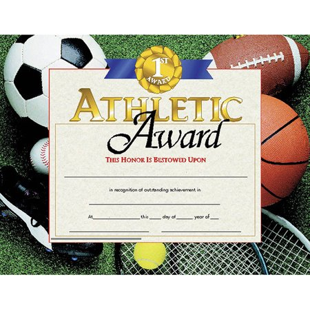 CERTIFICATES ATHLETIC AWARD 30 PK 8.5 X 11](Certificate Of Award)