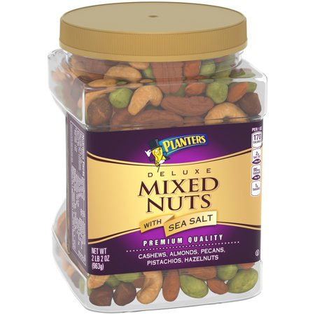 Planters® Deluxe Mixed Nuts with Sea Salt 34 oz. Canister