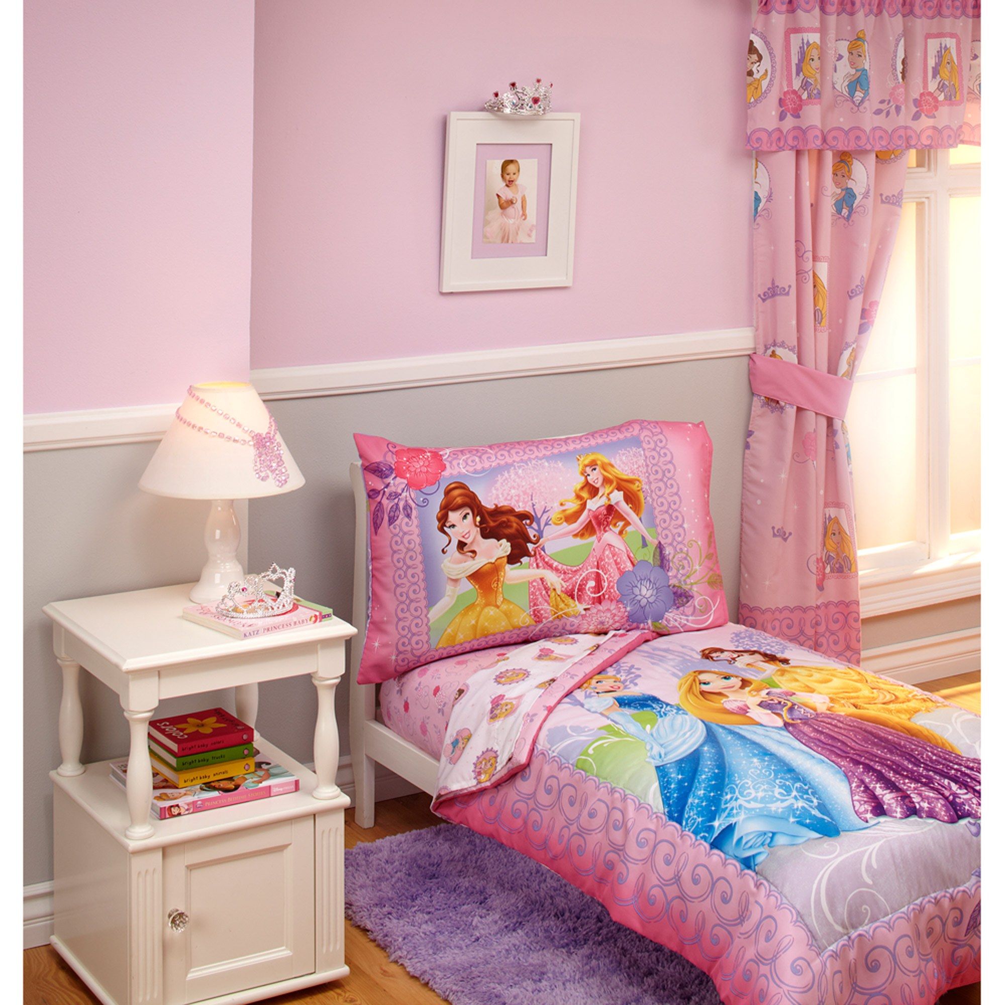 Disney Princess Timeless Elegance 4Piece Toddler Bedding Set   Walmart com. Disney Princess Timeless Elegance 4Piece Toddler Bedding Set