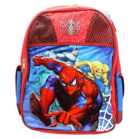 Spider-Man Fighting Crime Kids Full Size Superhero Backpack (16in)