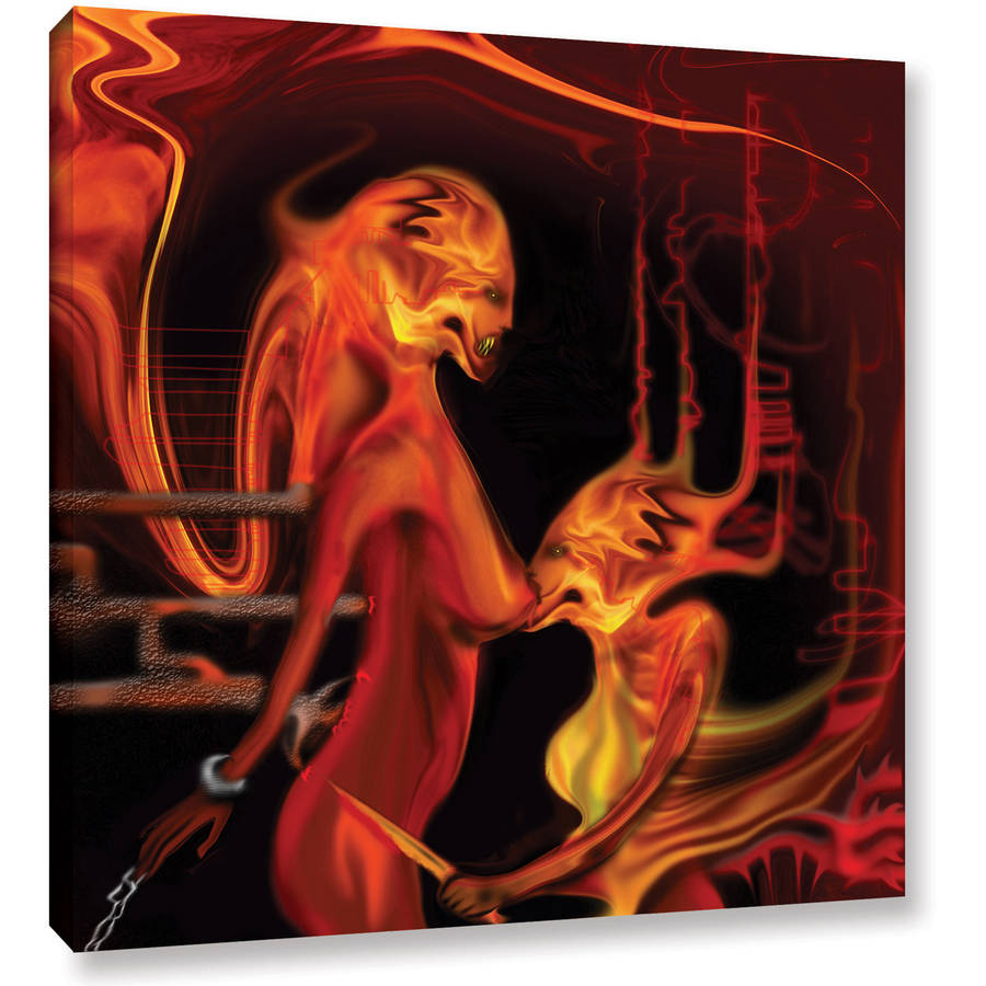"ArtWall Pyro Painter ""Parasite"" Wrapped Canvas"