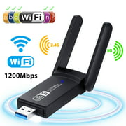 USB WiFi Adapter 1200Mbps, EEEkit USB 3.0 Wireless Network Adapter WiFi Dongle for PC Desktop Laptop with Dual Band 2.4GHz/300Mbps 5GHz/867Mbps,Support Windows10/8/8.1/7/Vista/XP/2000,Mac OS