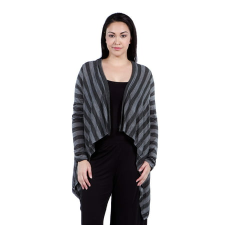 Printed Shrug (Women's Plus Size Casual Charcoal Printed)