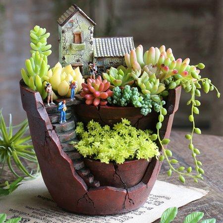 Large Size Sky Garden Succulent Herb Planter Flower Basket Pot Trough Box Plant Home Decor Christmas Gift Present](Cheap Flower Pots)