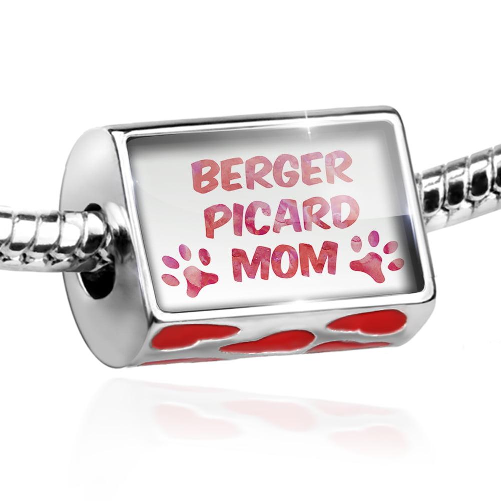 Bead Dog & Cat Mom Berger Picard Charm Fits All European Bracelets