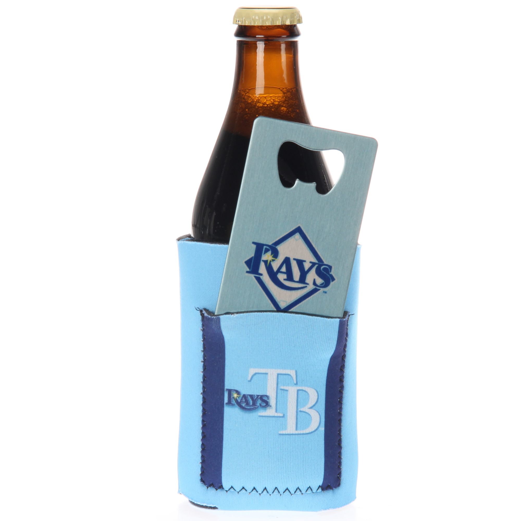 Tampa Bay Rays Can Insulator with Pocket & Opener - No Size